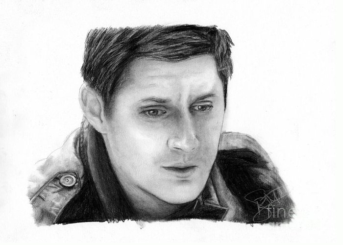 Jensen Ackles Greeting Card For Sale By Rosalinda Markle