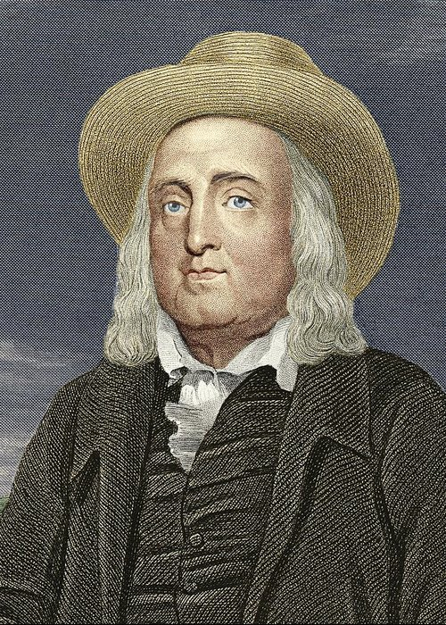 Jeremy Bentham Greeting Card featuring the photograph Jeremy Bentham, British Philosopher by Sheila Terry