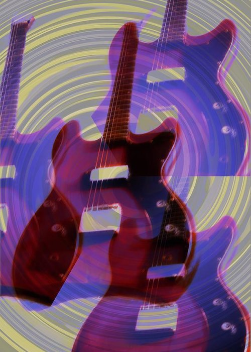 Guitar Greeting Card featuring the photograph Jet Screamer - Guild Jet Star by Bill Cannon