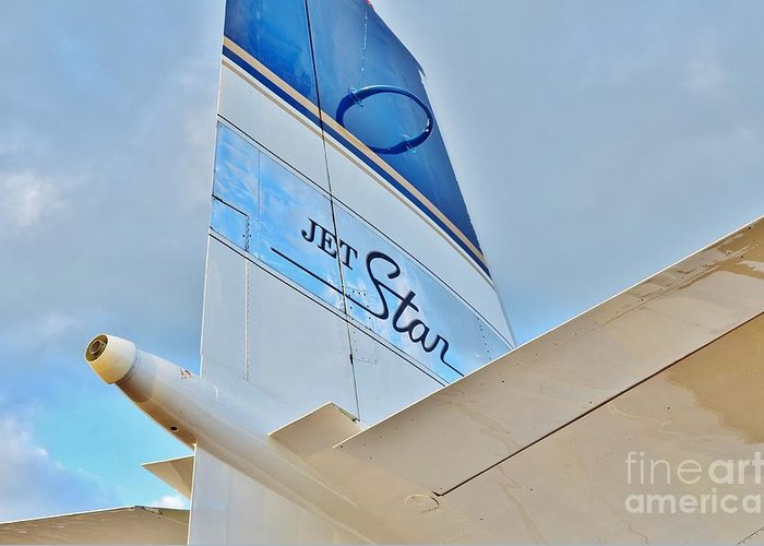 Lockheed Greeting Card featuring the photograph Jet Star by Lynda Dawson-Youngclaus