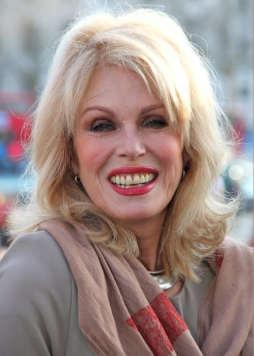 Jezcself Greeting Card featuring the photograph Joanna Lumley 3 by Jez C Self