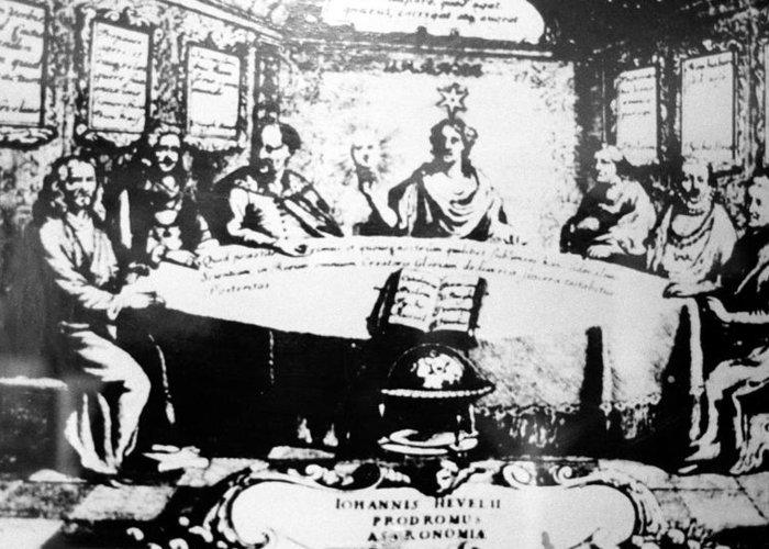 Ulugh Beg Greeting Card featuring the photograph Johannes Hevelius, Polish Astronomer by Ria Novosti