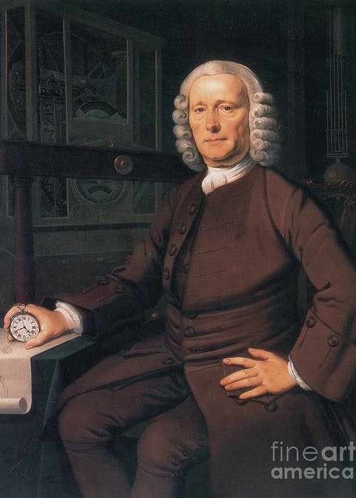 History Greeting Card featuring the photograph John Harrison, English Inventor by Photo Researchers