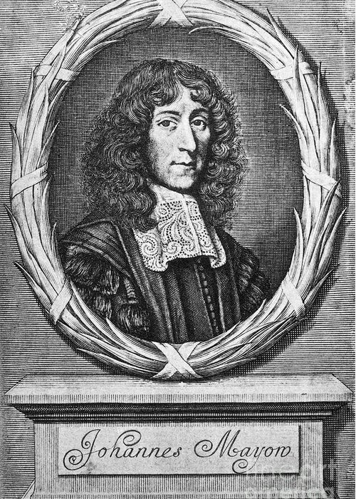 1674 Greeting Card featuring the photograph John Mayow (1640-1679) by Granger