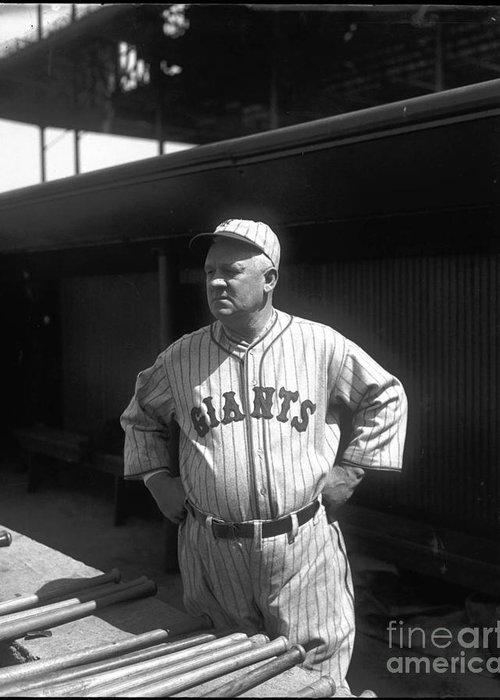 John Mcgraw Greeting Card featuring the photograph John Mcgraw - New York Giants by David Bearden