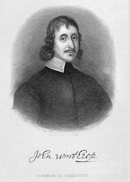 17th Century Greeting Card featuring the photograph John Winthrop The Younger by Granger