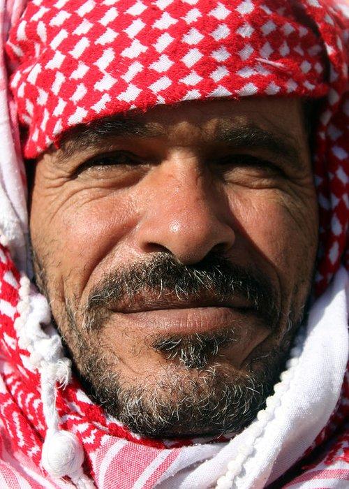 Jordan Greeting Card featuring the photograph Jordanian Man by Munir Alawi
