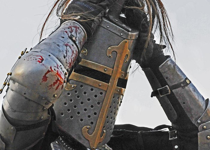 Knight Greeting Card featuring the photograph Joust 04 by Jeff Stallard