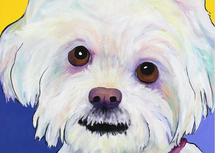 Llasa Apso Greeting Card featuring the painting Joy by Pat Saunders-White