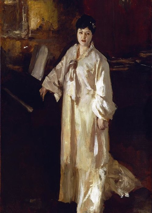 Judith Greeting Card featuring the painting Judith Gautier by John Singer Sargent