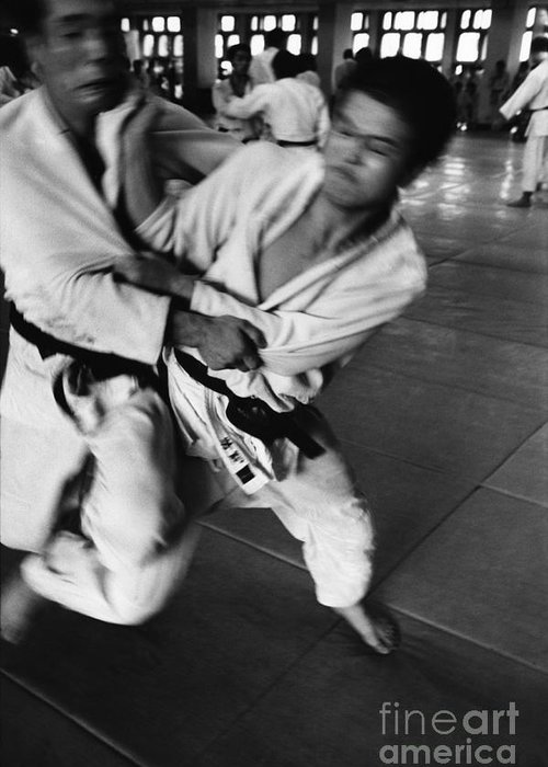 Tokyo Greeting Card featuring the photograph Judo by Bernard Wolff