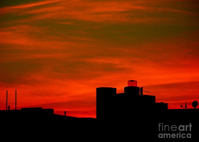 Sunset Greeting Card featuring the photograph June 2 2009 by Mark Gilman