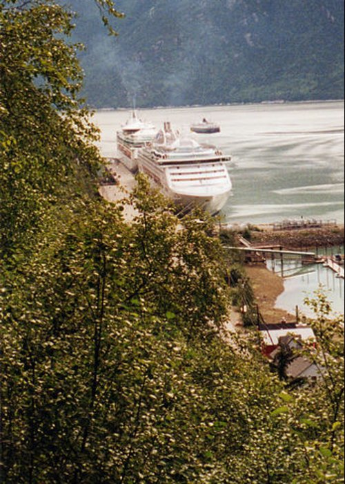 Cruise Photographs Greeting Card featuring the photograph Juneau Alaska by C Sitton