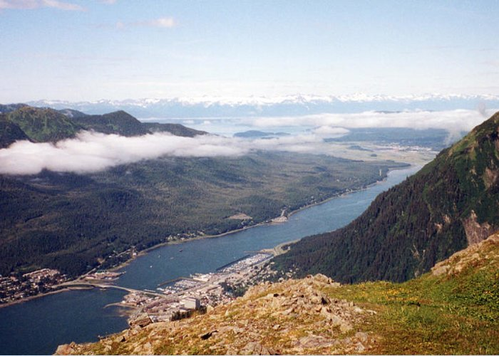 Ocean Photographs Greeting Card featuring the photograph Juneau View by C Sitton