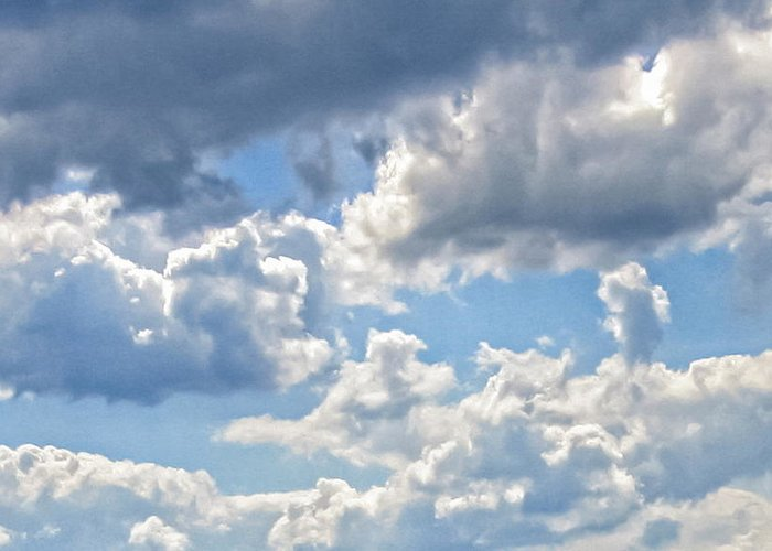 Clouds Greeting Card featuring the photograph Just Clouds by Laura Corebello