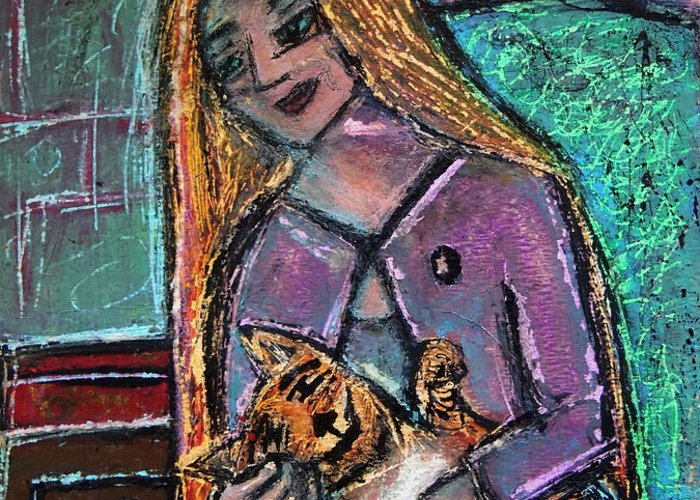 Gastonia Greeting Card featuring the painting Just Fine Alone by Tammy Cantrell