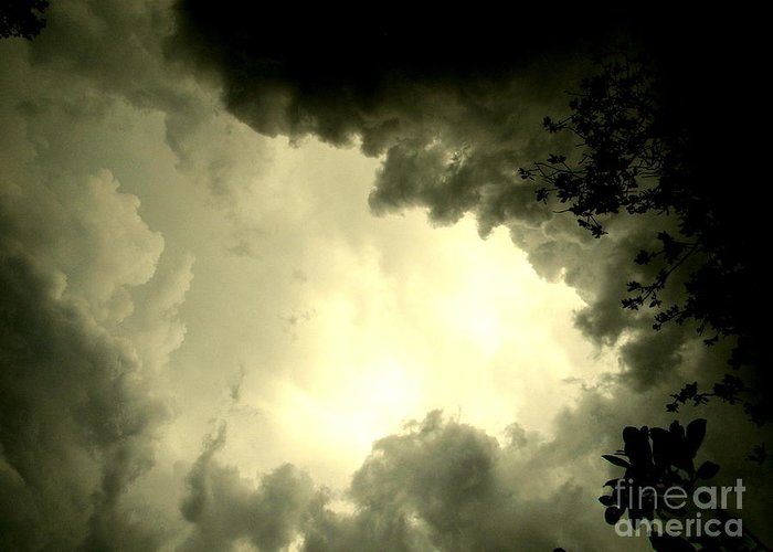 Storms Greeting Card featuring the photograph Just Look Up by Kimberly Dawn Hendley