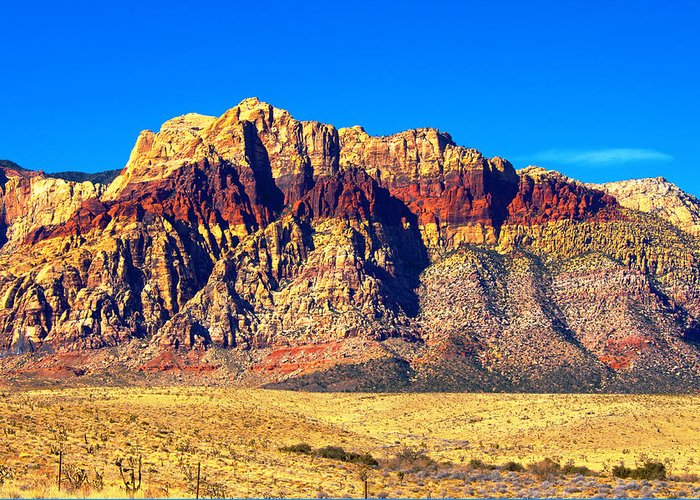 Las Vegas Greeting Card featuring the photograph Just Outside Of Las Vegas by Richard Henne