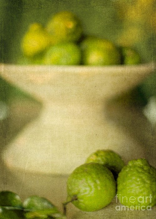 Kaffir Limes Greeting Card featuring the photograph Kaffir Limes by Linde Townsend