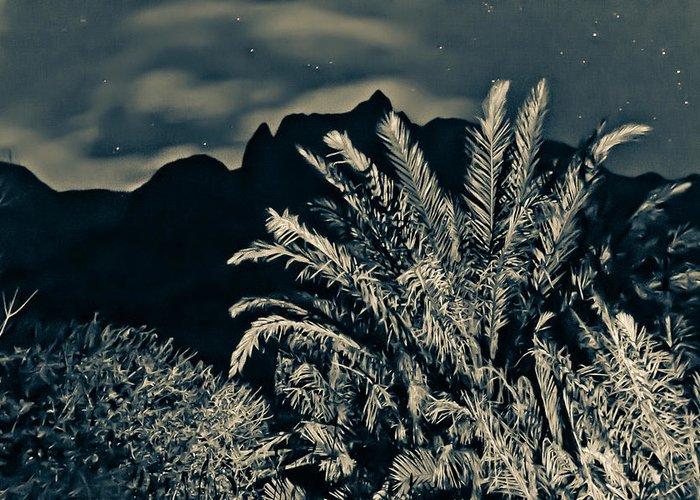 Kauai Photographs Greeting Card featuring the photograph Kalalau Mountains At Night 2 by Lannie Boesiger