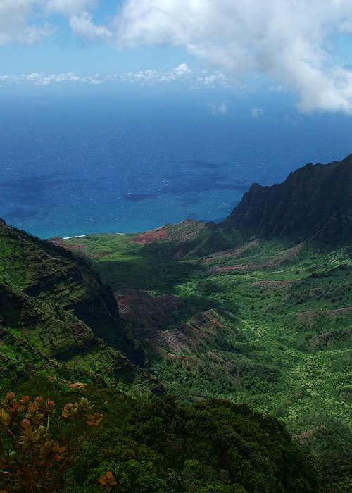 Kalalau Valley Greeting Card featuring the photograph Kalalau Valley 2 by Ken Smith