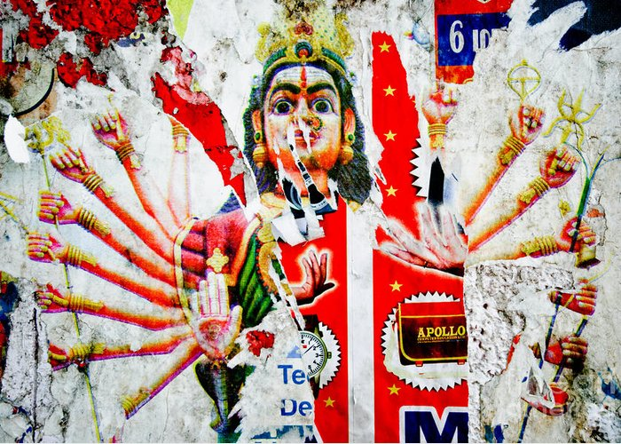 Kali Greeting Card featuring the photograph Kaliyuga by Dev Gogoi