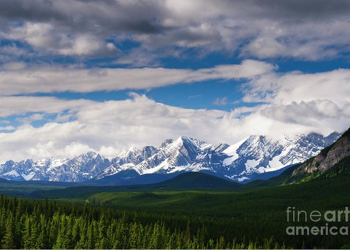 Alberta Greeting Card featuring the photograph Kananaskis by Ginevre Smith