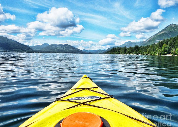 British Columbia Greeting Card featuring the photograph Kayaking In Bc by Traci Cottingham