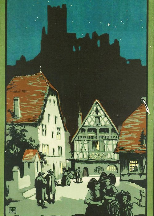 Agriculture Greeting Card featuring the digital art Kaysersberg Alsace by Georgia Fowler