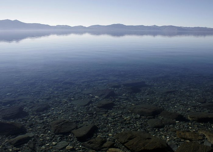 Lake Tahoe Greeting Card featuring the photograph Keep Tahoe Blue by Adam Blankenship