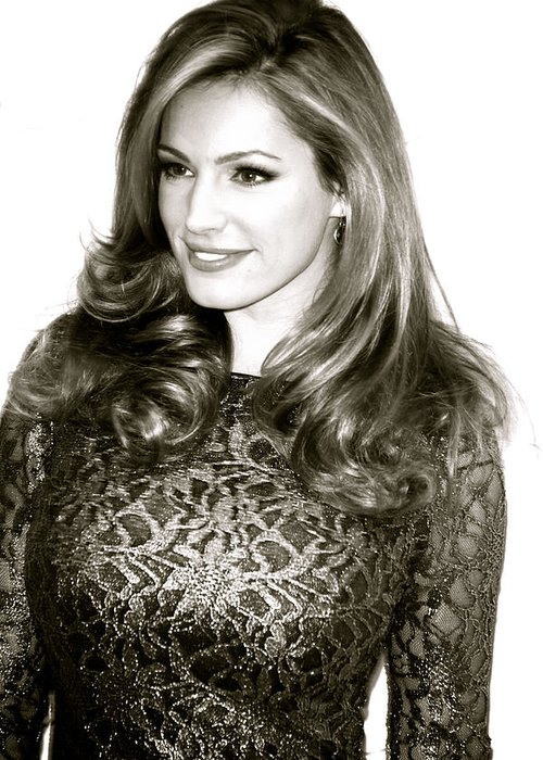 Jezcself Greeting Card featuring the photograph Kelly Brook by Jez C Self