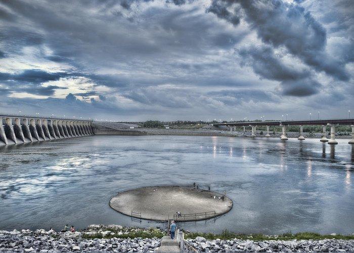 Kentucky Dam Greeting Card featuring the photograph Kentucky Dam Dusk by Jim Pearson