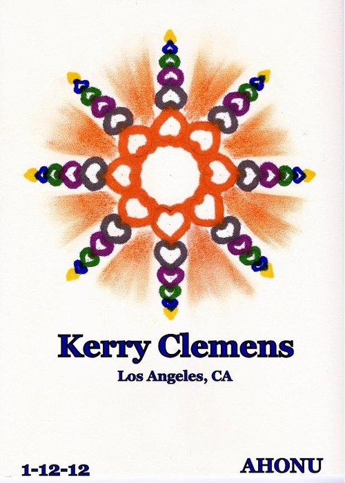 Ahonu Greeting Card featuring the painting Kerry Clemens by Ahonu