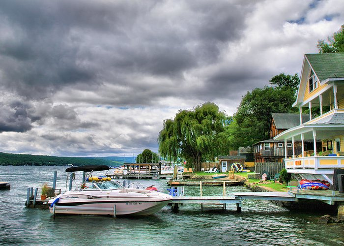 Lake Greeting Card featuring the photograph Keuka Lake Shoreline by Steven Ainsworth