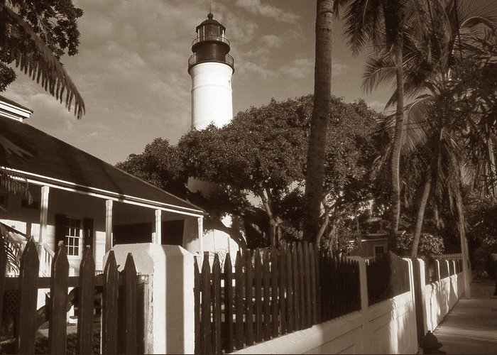 Lighthouse Greeting Card featuring the photograph Key West Lighthouse by Skip Willits