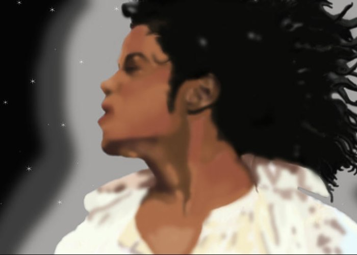 Digital Art Greeting Card featuring the painting King Of Pop King Of The Universe by Diva Jackson