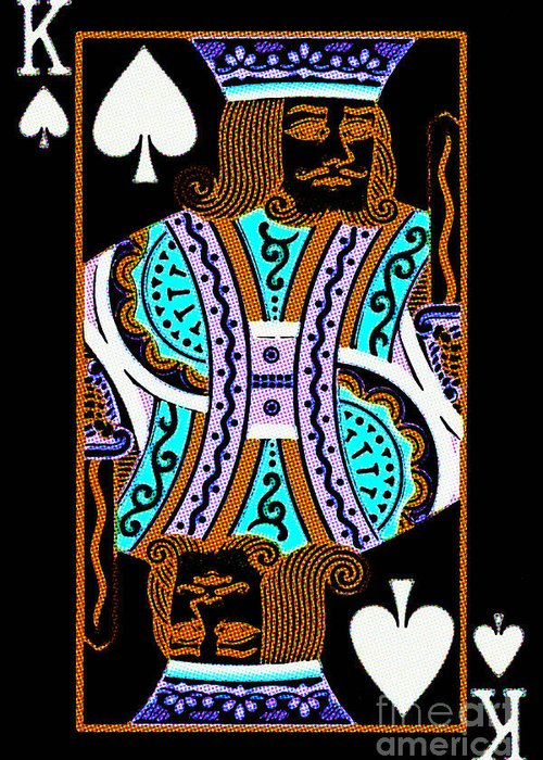 Card Greeting Card featuring the photograph King Of Spades by Wingsdomain Art and Photography