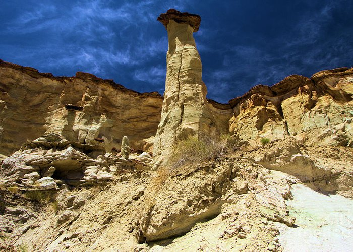 Wahweap Hoodoos Greeting Card featuring the photograph King Of Wahweap by Adam Jewell