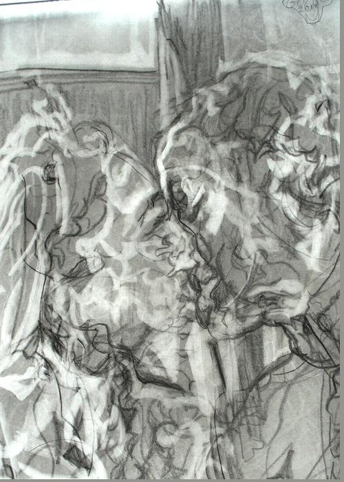 Royal Wedding Greeting Card featuring the painting Kiss by Godfrey McDonnell