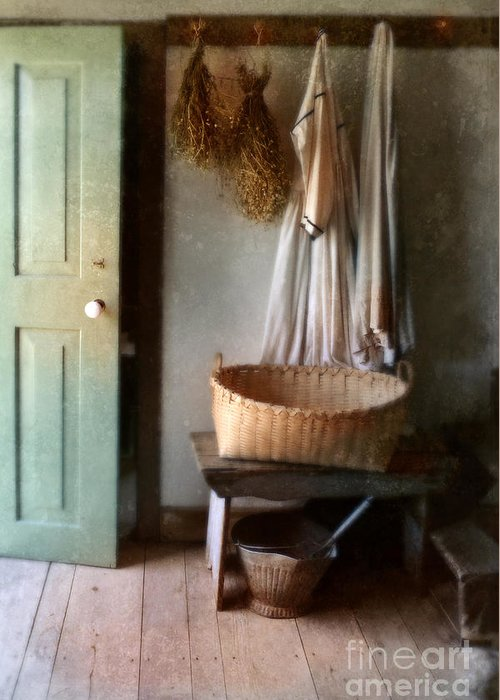 Kitchen Greeting Card featuring the photograph Kitchen Door In Old House by Jill Battaglia