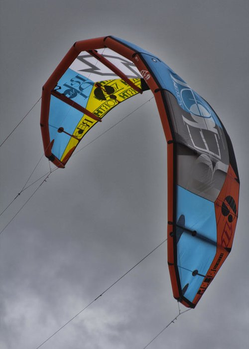 Kite Surfing Greeting Card featuring the photograph Kite Surfing by Douglas Barnard