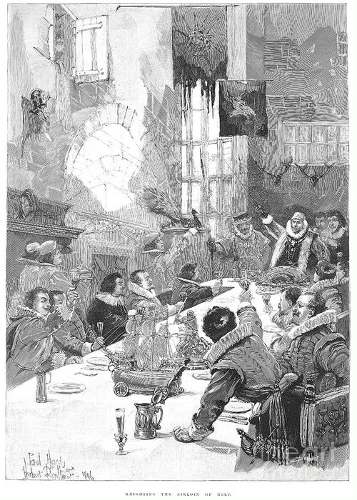 17th Century Greeting Card featuring the photograph Knighting The Sirloin by Granger