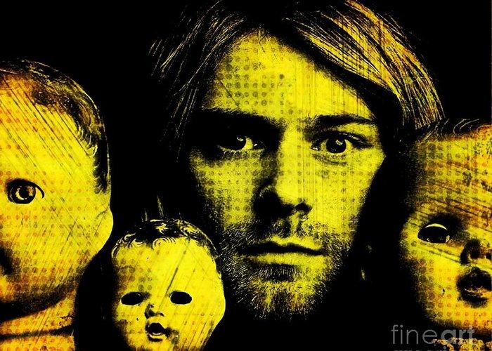 Kurt Greeting Card featuring the digital art Kurt Cobain by Ankeeta Bansal