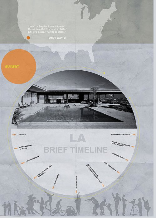 Greeting Card featuring the digital art La Poster by Naxart Studio