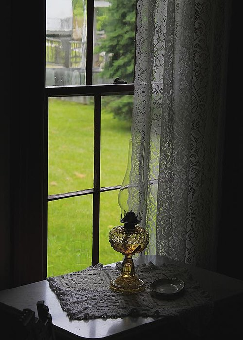 Hovind Greeting Card featuring the photograph Lace Curtains by Scott Hovind