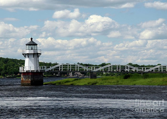 Doubling Point Light Greeting Card featuring the photograph Lace Lighthouse by Brenda Giasson