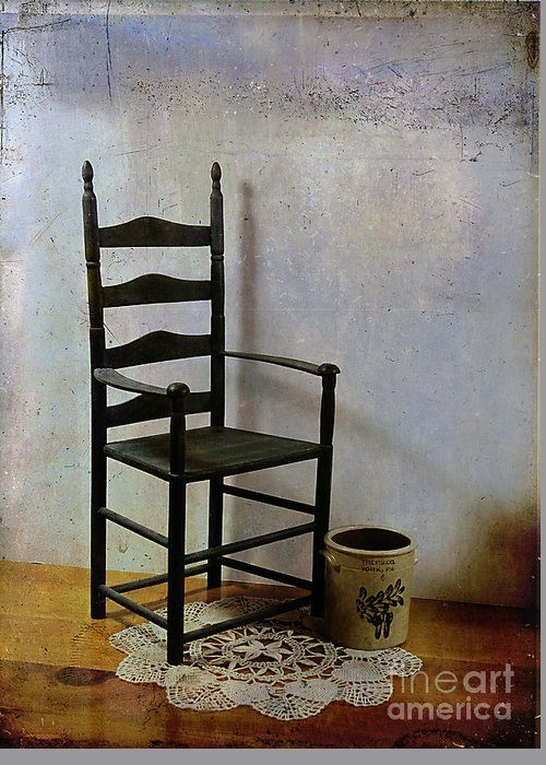 Ladderback Greeting Card featuring the photograph Ladderback by Judi Bagwell
