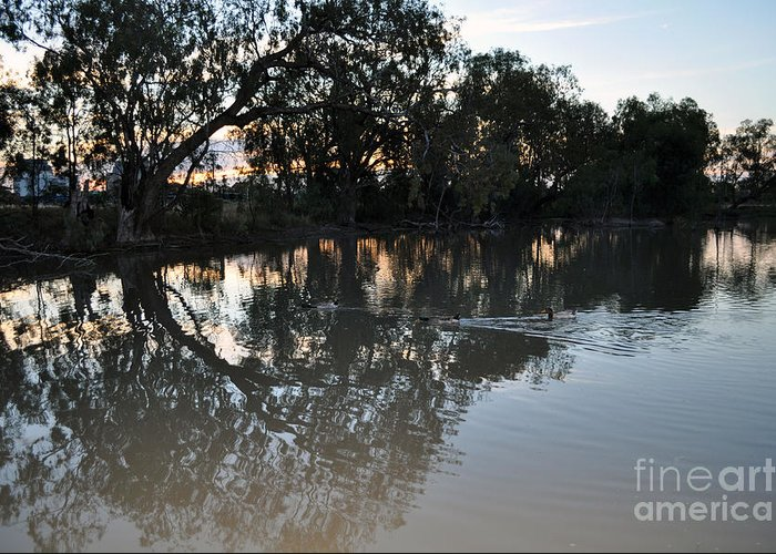 Lagoon Greeting Card featuring the photograph Lagoon At Dusk by Joanne Kocwin