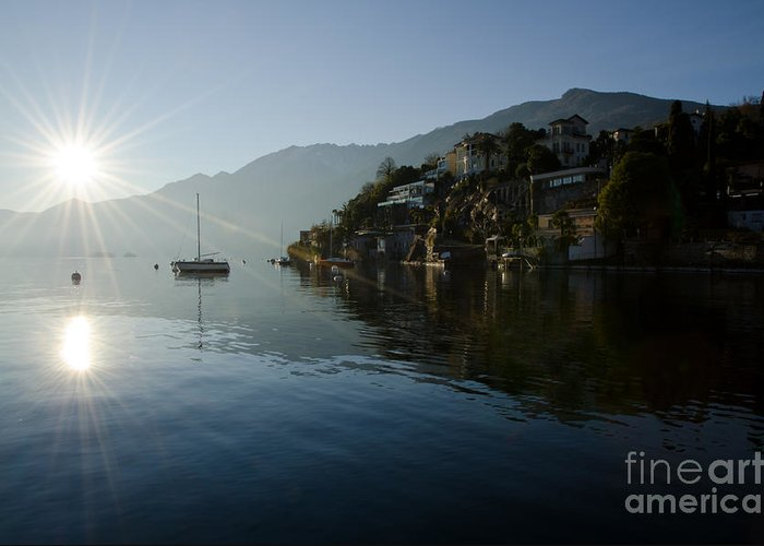 Lake Greeting Card featuring the photograph Lake And Sunlight by Mats Silvan