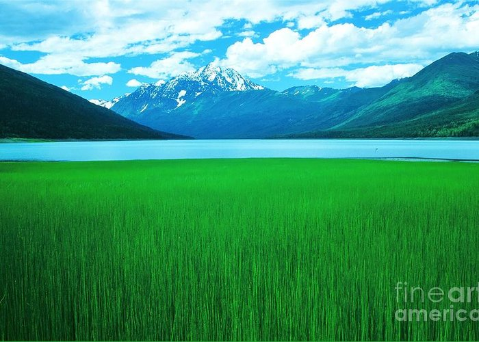 Alaska Greeting Card featuring the photograph Lake Eklutna 2 by Ronnie Glover